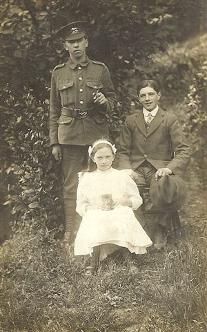 Harold Alford  in uniform, Gladys & Fred, around 1914-18
